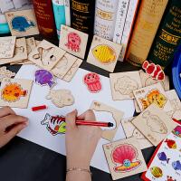 儿童绘画套装涂鸦填色模板早教学习工具幼儿园画画礼盒礼物