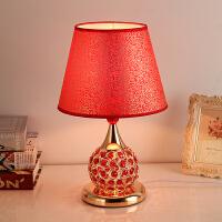 欧式婚庆红色水晶奢华梦幻浪漫结婚喜庆创意装饰台灯