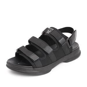 Belle/百丽2018夏季新款纺织品平底舒适休闲男凉鞋80021BL8
