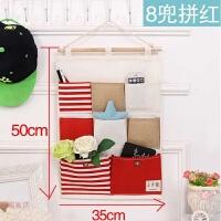 布艺挂墙上置物袋储物挂兜 门后可悬挂式收纳布袋多层墙面壁挂袋 送强力挂钩