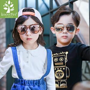 KK树儿童眼镜墨镜宝宝太阳镜时尚舒适男女童防紫外线潮