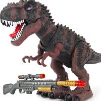 儿童男孩动物玩具大遥控感应霸王龙枪射击恐龙模型走路电动暴龙