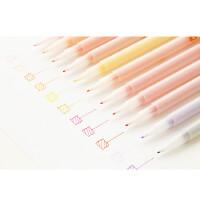 韩国文具 点石创意12色/24色0.38水性彩笔 纤维荧光笔 学生勾线笔