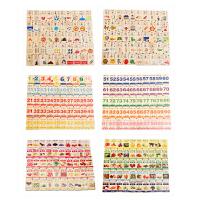 木制积木150粒汉字多米诺骨牌儿童玩具1-2-3-6一周岁宝宝识字
