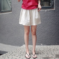夏天孕妇装 孕妇短裤夏外穿宽松大码棉麻孕妇裤子托腹裤打底裤韩国孕妇装夏装