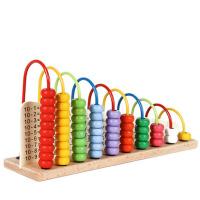 木制��W�和�教具玩具 快��W算�g�文� �算架 彩虹珠算架