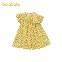 【3件5折价:85】巴拉巴拉童装女童裙子儿童洋气夏装小童宝宝连衣裙碎花潮