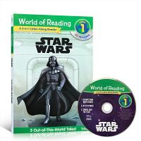 英文原版 迪士尼分级读物 Star Wars: 3-in-1 Listen-Along Reader 星球大战3个故事