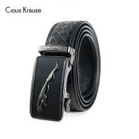 【1件3折,到手价:94.8元】Clous Krause ck男士皮带 商务潮流牛皮中青年腰带自动扣休闲裤袋(110-