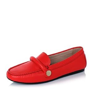 【鞋靴超级品类日】BASTO/百思图专柜同款软面牛皮浅口女单鞋YBS01CQ6