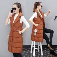 马甲女士外套中长款加厚冬季新款女装韩版时尚过膝外套潮