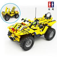 电动遥控汽车儿童玩具车拼插积木模型男孩拼装玩具积木车