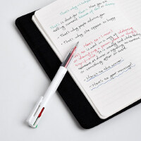 KACO优写EASY按动多色中性笔四合一4色水笔红蓝黑绿彩色多功能笔0.5mm学生用做笔记老教师三色签字水笔非斑马