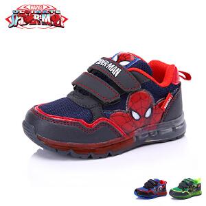 【清仓特惠】迪士尼儿童运动鞋闪灯冬新款蜘蛛侠亮灯鞋男童发光运动鞋跑步鞋(3-6岁可选) DS2086