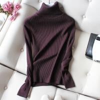高领毛衣女2018秋冬新款修身紧身内搭线衣加厚套头长袖针织打底衫