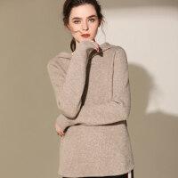 连帽加厚羊绒衫女卫衣短款针织羊毛衫套头毛衣宽松打底衫