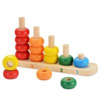 宝宝彩虹叠叠乐叠叠杯套圈套杯套塔婴儿玩具6-12个月益智早教木制
