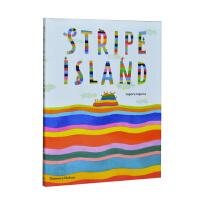 【预订】Stripe Island 条纹岛 绘画儿童启蒙艺术书籍