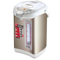 家用电热水瓶自动保温泡奶304不锈钢5L办公室烧水壶 白 色