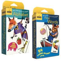 【全店300减100】英文原版First Words/Alphabet 54张单词字卡盒装2盒兰登出品 0-3-6岁幼儿