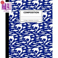 【中商海外直订】Composition: Dark Blue Shark Composition Notebook f