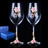 珐琅彩红酒杯香槟杯高脚杯醒酒器套装创意结婚礼物玻璃杯