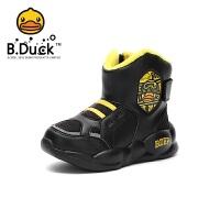 【4折价:107.6】B.Duck 小黄鸭童鞋男童靴子 时尚雪地靴防滑保暖棉靴