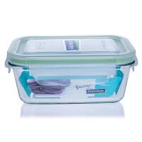 韩国进口三光云彩glasslock钢化玻璃保鲜盒480ML 微波炉饭盒RP713