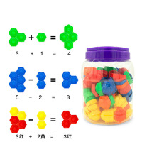 六角小钢帽拼插积木儿童早教智力启蒙玩具