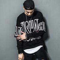 嘻哈街舞潮男套头卫衣2018秋季新款韩版潮流宽松青少年长袖