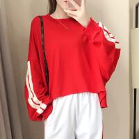 2019春款套装女网红休闲卫衣运动服时尚两件套嘻哈学生宽松韩版