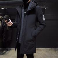 男士冬季外套中长款棉衣潮流2018新款加厚棉袄韩版羽绒冬装男