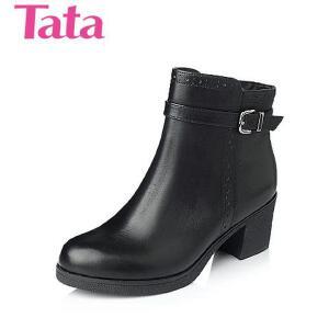 Tata/他她 年专柜同款小牛皮女靴2YA41DD5