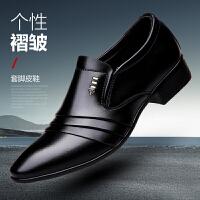 宜驰 EGCHI 商务正装休闲皮鞋男士套脚一脚蹬懒人 K5825