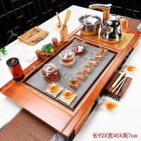 20180923145316771茶具套装家用全自动四合一整套紫砂功夫陶瓷茶台茶道实木茶盘茶海 40件