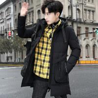 2018冬季新款棉衣男士外套韩版潮流加厚中长款羽绒冬装棉袄子
