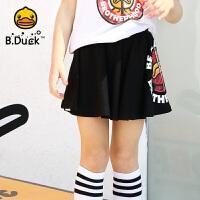 【4折价:107.6】B.duck小黄鸭童装女童半身裙2020夏季新款儿童纯棉裙子宝宝短裙潮BF2061903