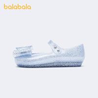 【1件6折价:87.5】【冰雪奇缘IP】巴拉巴拉官方童鞋儿童皮鞋女童公主鞋幼童2021新款夏