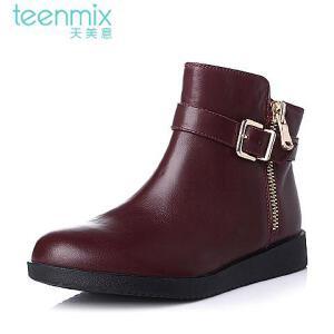 Teenmix/天美意专柜同款牛皮女靴6US42DD5