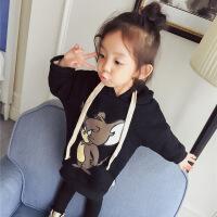 婴儿童装秋冬装0-1-2-3岁4女宝宝加绒卫衣女童中长款加厚外套冬装