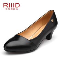 RIIID女鞋 通勤单鞋 上班鞋黑色