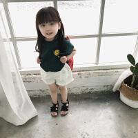 新款夏装童装女童打底衫儿童短袖T恤小女孩女宝宝洋气上衣潮