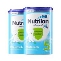 Nutrilon诺优能牛栏荷兰原装进口 婴幼儿牛奶粉配方奶粉5段 2罐装保税仓发货