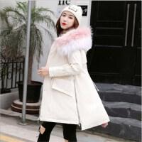 羽绒服女中长款小个子真大毛领2018冬装韩版显瘦气质宽松外套