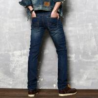 2018春夏新款韩版修身直筒男装牛仔裤男士休闲长裤