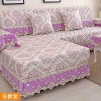 四季欧式沙发垫防滑布艺坐垫蕾丝全包组合实木沙发巾套罩定做