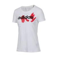 adidas/阿迪达斯女款2019夏季新款NEO短袖圆领休闲T恤EA0328