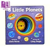 【中商原版】8 Little Planets 8个小行星 低幼太空星空宇宙知识科普认知启蒙 纸板书 英文原版 3-6岁