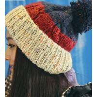 女秋冬天休闲可爱女士冬季保暖毛线帽子 拼色针织帽