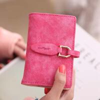 名片夹 女士名片盒装卡包女式简约时尚小清新多卡位节日礼物复古磨砂个性卡片包